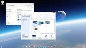 Windows 7 Space - invisible taskbar theme