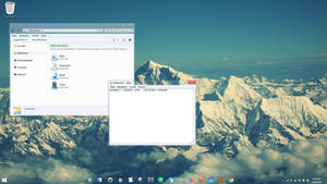 Windows 7 Everest Aero - transparent taskbar theme