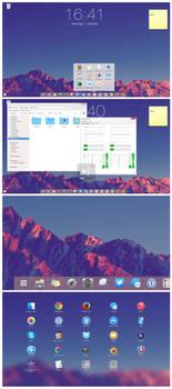 Windows 7 Mountain theme
