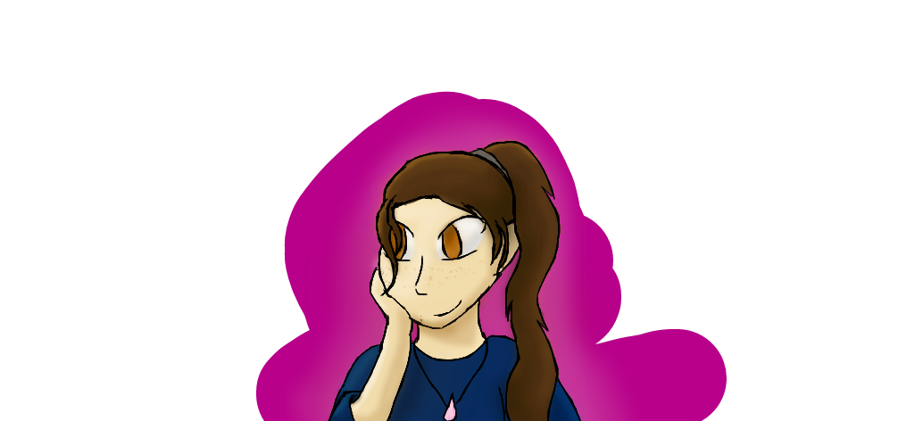 third attempt on drawing my self. by AuroraFireClaw