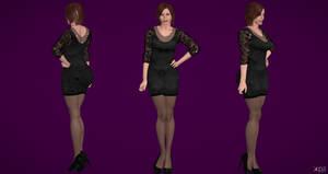 Claire Redfield Black Dress (updt)