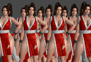 Mai Shiranui Faceposes by Marcelievsky