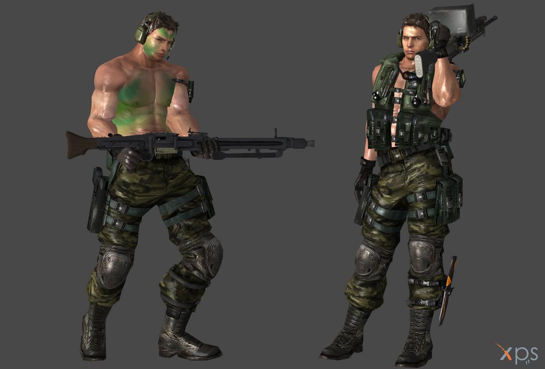 Chris Redfield Jungle Commando by Marcelievsky