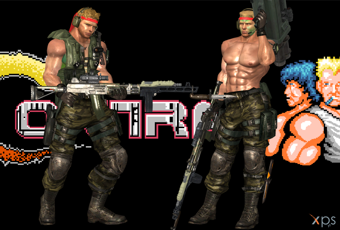 Chris as Bill from Contra by Marcelievsky
