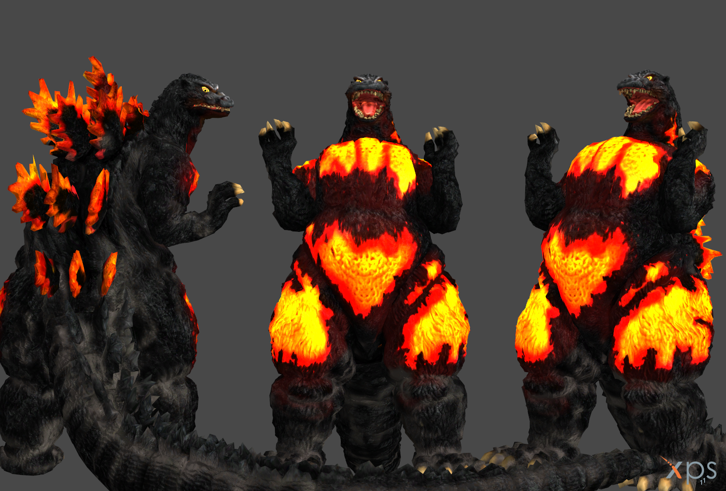 burning godzilla by marcelievsky on deviantart