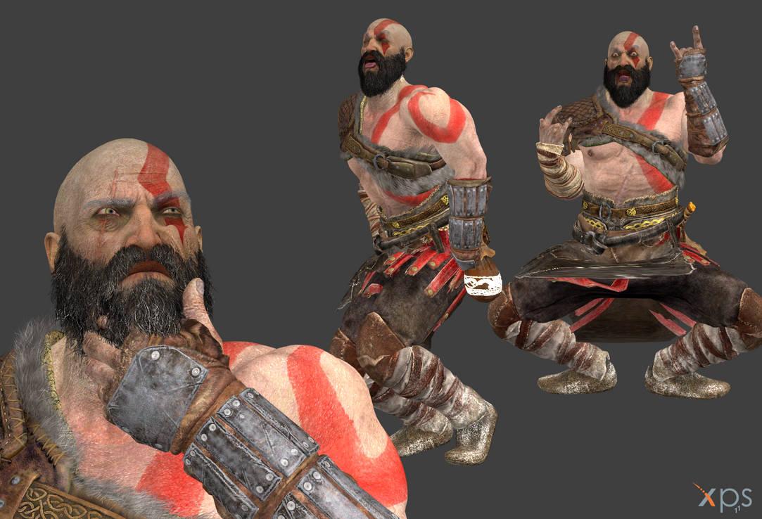 God of War 4 - Kratos by Marcelievsky