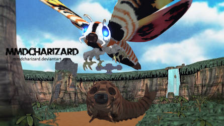 MMD Newcomer - PS3/PS4 Mothra -DL MOVED- by MMDCharizard