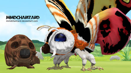 MMD Newcomer - PS3/PS4 Mothra V2 -DL MOVED- by MMDCharizard