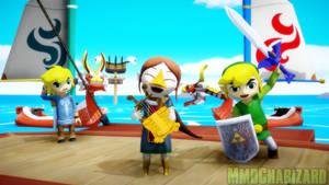 MMD Zelda - Toon Link, Medli, and KoRL +DL+ by MMDCharizard