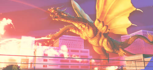 MMD Godzilla - Grand King Ghidorah +DL+