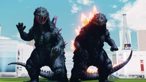 MMD Godzilla - Godzilla 1999 and 2000 +DL+