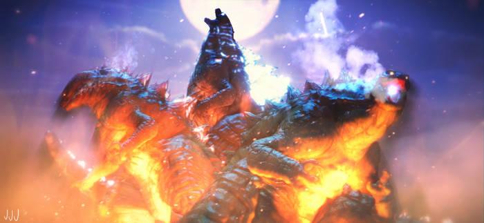 MMD Godzilla - Godzilla Monsterverse Pack +DL+