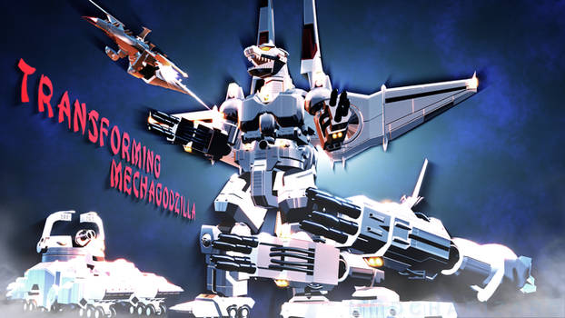 MMD Godzilla - Transforming MechaGodzilla +DL+