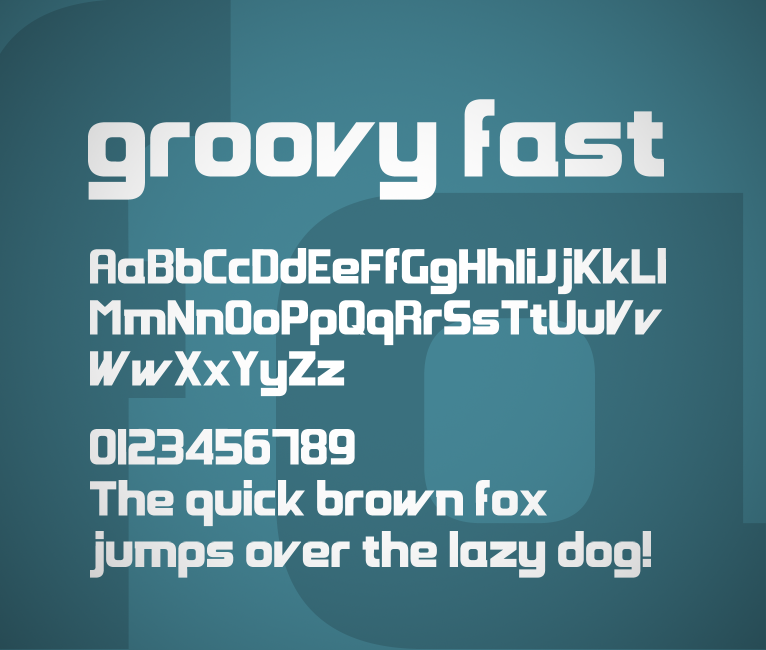 Groovy Fast font