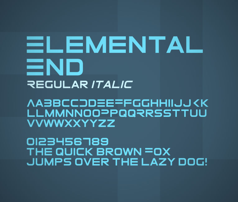 Elemental End font