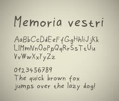 Memoria Vestri font by FutureMillennium