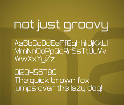Not Just Groovy font