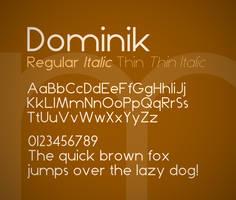 Dominik font by FutureMillennium