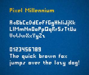 Pixel Millennium font by FutureMillennium