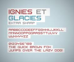 Ignis et Glacies Extra Sharp font by FutureMillennium