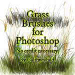 Grass brushes for Photoshop by calthyechild