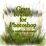 Grass brushes for Photoshop
