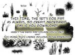 Foliage brushes-PSP+image pack