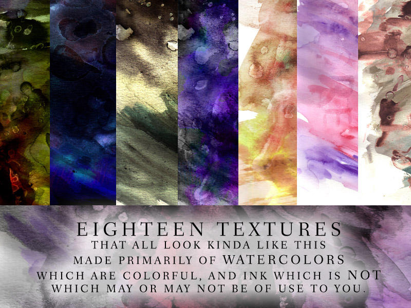 Watercolor Texture Pack by calthyechild