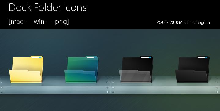 Dock Folder Icons by bogo-d