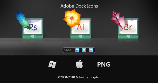 Adobe Dock Icons by bogo-d