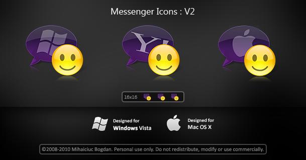 Messenger Icons : V2 by bogo-d