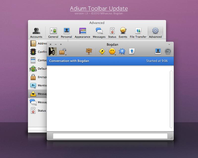 Adium Toolbar Update v1.3 by bogo-d
