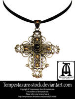 Gothic Cross Necklace by tempestazure-Stock