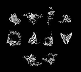 Cutwork butterfly set 1