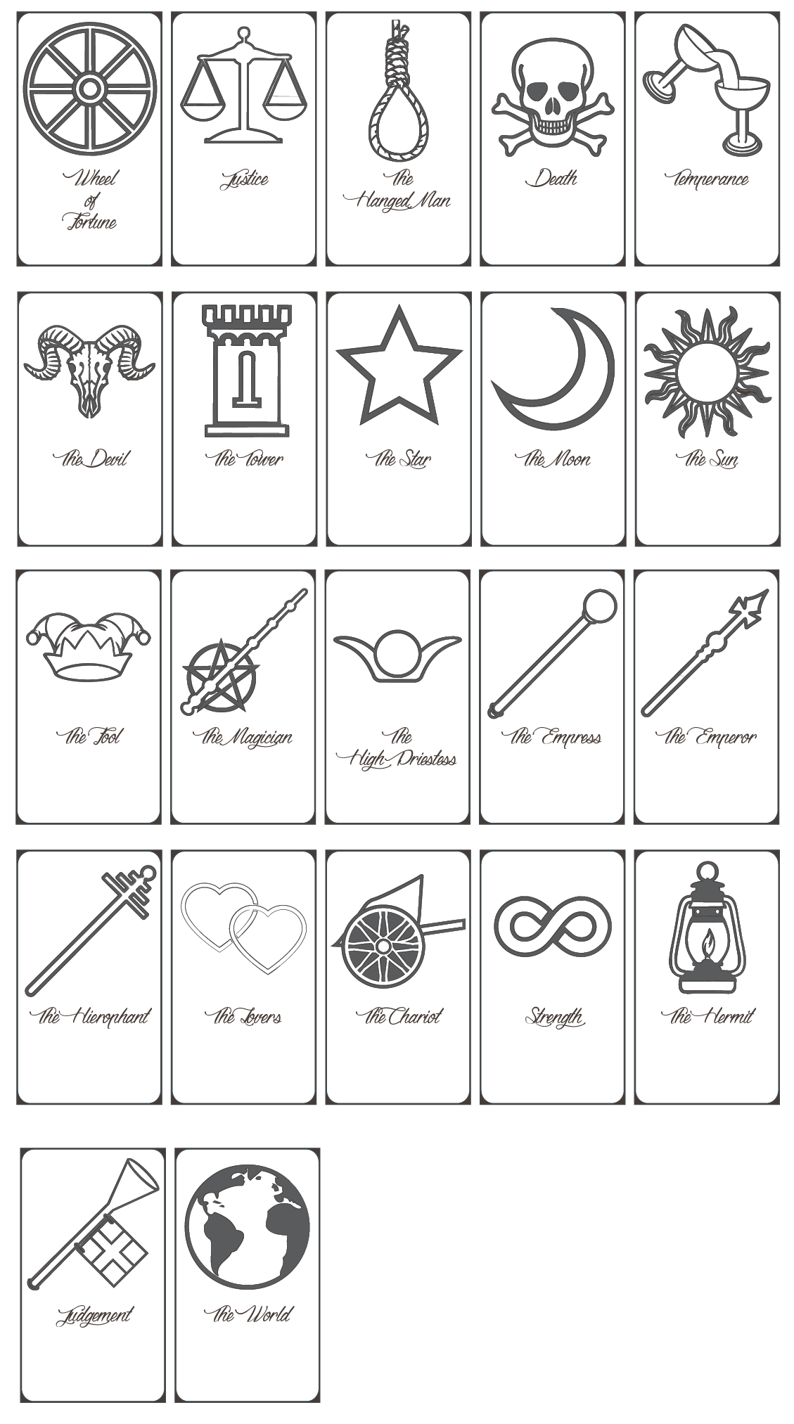 Bewitching image with regard to free printable tarot cards pdf