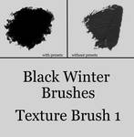 Black Winter's Texture Brush 1