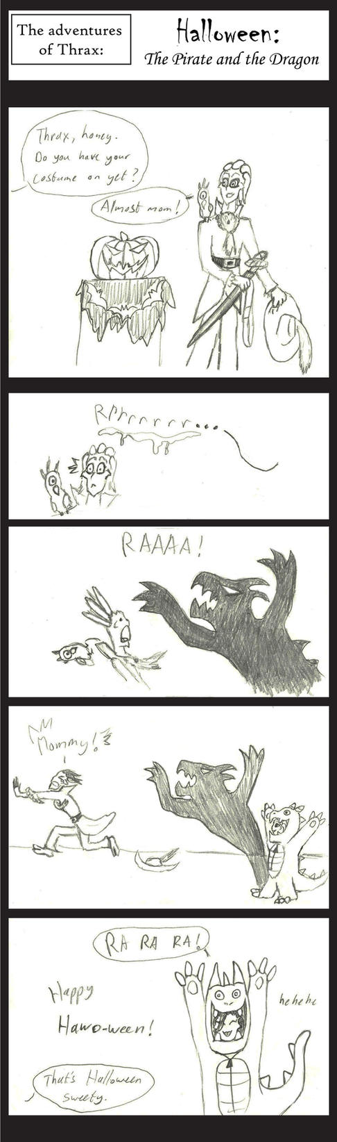 Thrax's Halloween adventures by ArtemisDragonheart