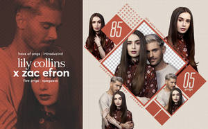 [85] : lily collins x zac efron