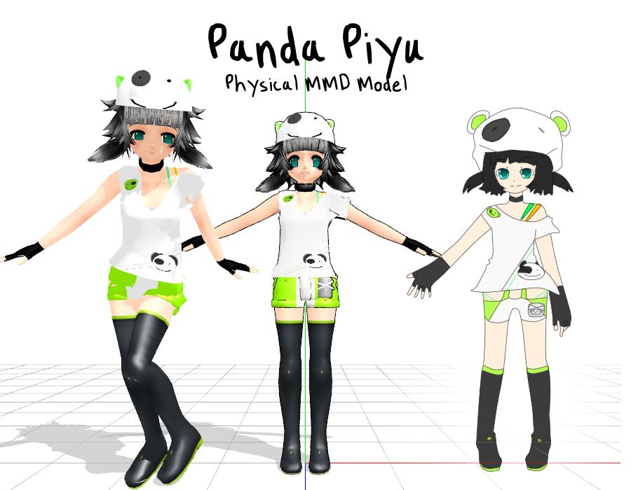 Panda Piyu MMD model