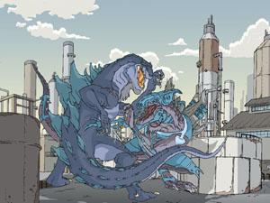 MONSTER WARS WALLPAPER by GodzillaTheSeries