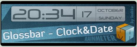 Glossbar - Clock and Date by loshke