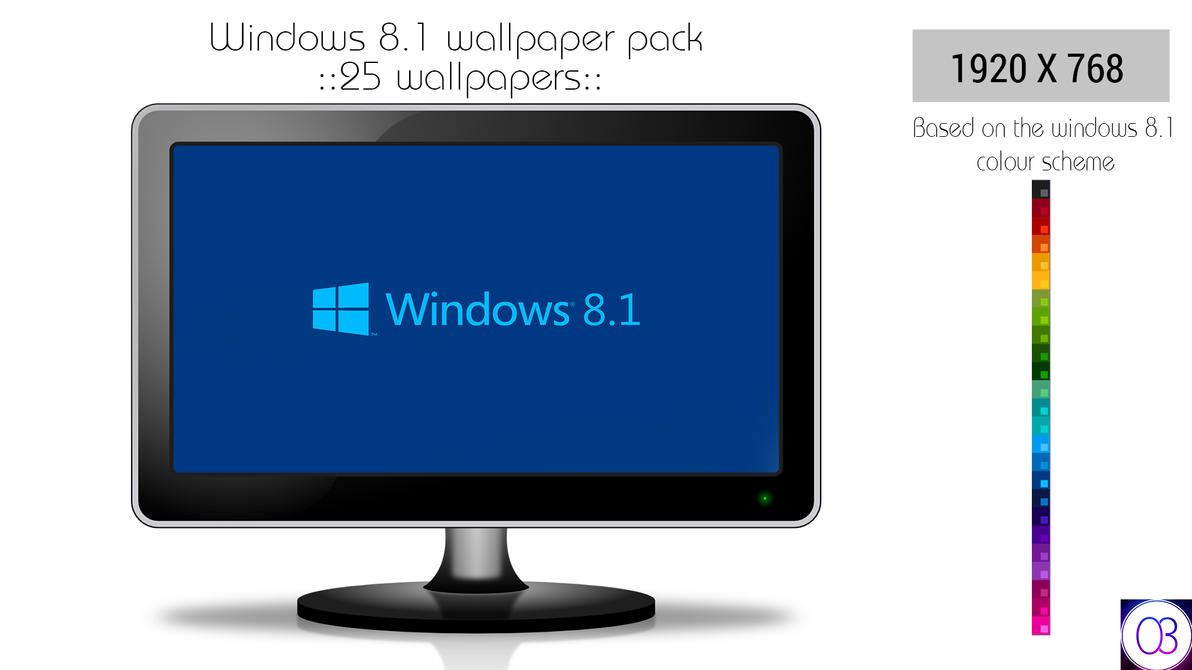 Windows 8.1 Metro Wallpaper Pack by thechampishere03