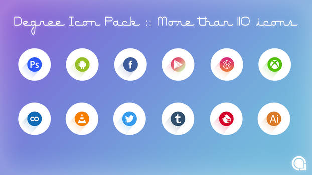 Degree Icon Pack::More than 110 icons