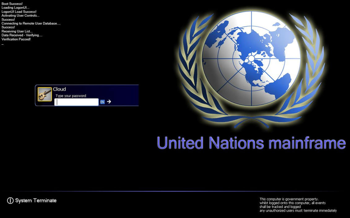 United Nations Logon+Boot+Wall by Cloud791992