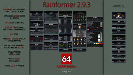 Rainformer 2.9.3 AIDA64 Edition | Rainmeter