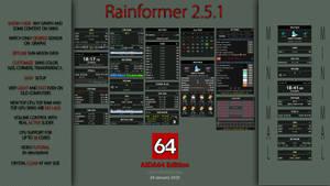 Rainformer 2.5.1 AIDA64 Edition | Rainmeter by Pul53dr1v3r