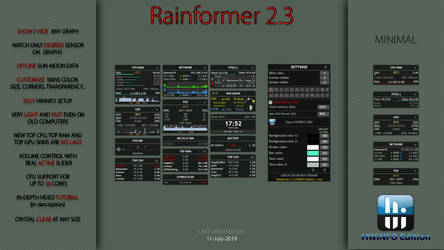 Rainformer 2.3 HWiNFO Edition : Rainmeter by Pul53dr1v3r