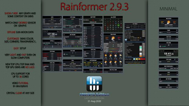 Rainformer 2.9.3 HWiNFO Edition : Rainmeter