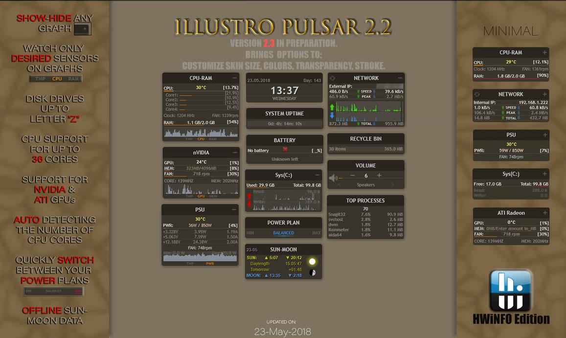 illustro Pulsar 2.2 HWiNFO Rainmeter by Pul53dr1v3r