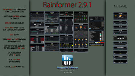 Rainformer 2.9.1 HWiNFO Edition : Rainmeter by Pul53dr1v3r